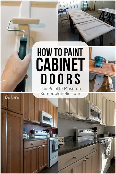 how to enamel cabinets remodelaholic how to paint cabinet doors