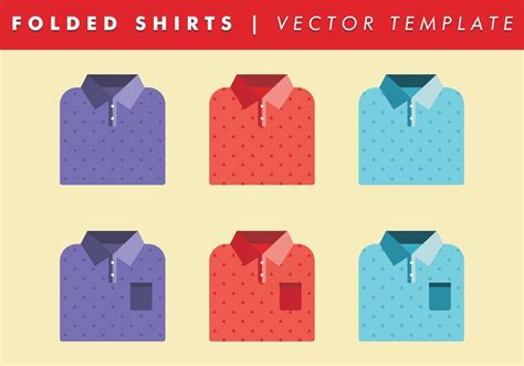 folded shirts template vector    vector