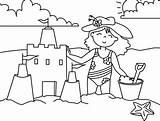 Coloring Castle Sand sketch template