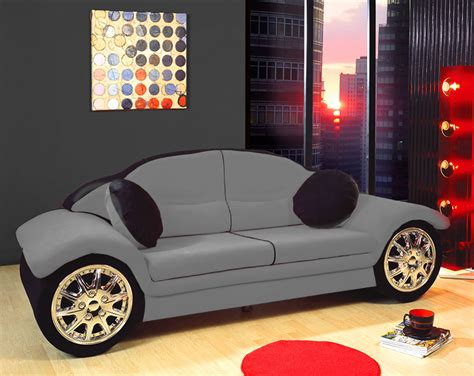 Red Black Race Car Sofa Children Furniture Microfiber New For Youth Bedroom