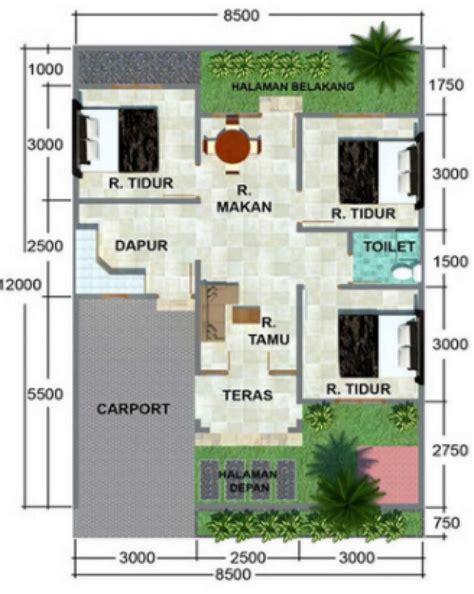gambar denah rumah ukuran   kamar tidur