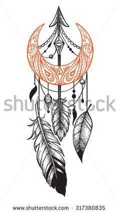 fox feather moon arrow braclet google search tattoo ideas tattoos tattoo drawings