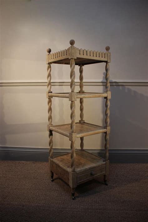 Oak Etagere by C19th Bleached Oak Etagere Other Furniture