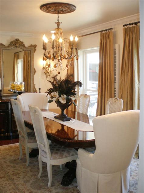 dineing room spice up your dining room with stylish slipcovers hgtv