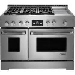 stacked monogram pro style gas range with griddle and multimode