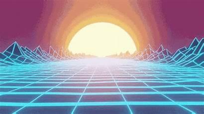 Aesthetic Wave Vapor Vaporwave Sun Gifs Neon
