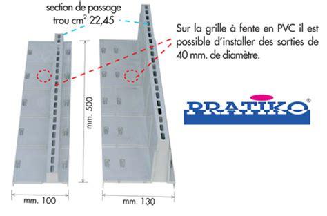 grille 224 fente pour caniveau pvc s 233 rie 100 anjou connectique
