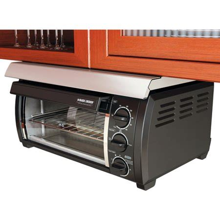 cabinet toaster oven black decker traditional spacemaker toaster oven black