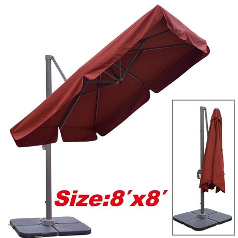 cantilever alu patio outdoor spa pool side umbrella 8 x8