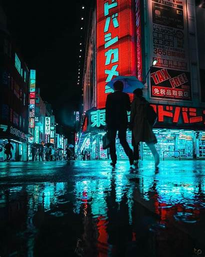 Cyberpunk Aesthetic Tokyo Street Teemu Jarvinen Cities