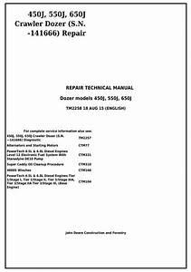 John Deere 450j  550j  650j Crawler Dozer  S N Before 141666  Service Repairtechnical Manual