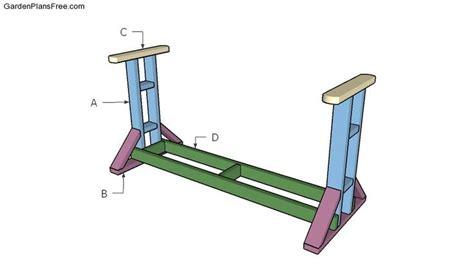 building  glider swing stand outdoor furniture plans