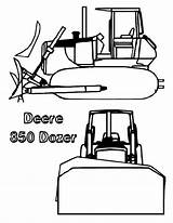 Coloring Bulldozer Sun Deere Coloringsun sketch template