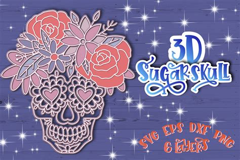 I think the reason they are so popular is that they look like a lot of hard work. 3D Sugar Skull svg Papercut svg Mandala 3d (616862) | 3D ...