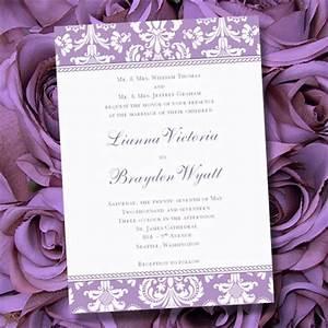 lavender wedding invitations printable purple damask With lavender colour wedding invitations