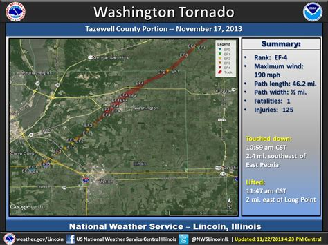 Washington Illinois Tornado Path