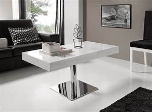 Table Basse Relevable Pied Central