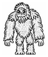 Bigfoot Coloring Pages Printable sketch template