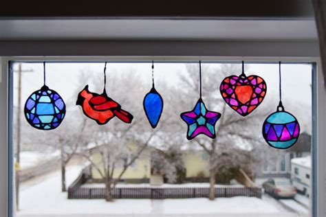 stained glass christmas suncatchers   printable