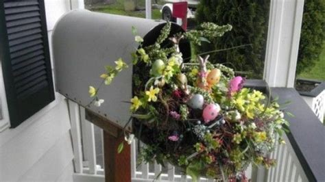 easter mailbox decoration pictures   images