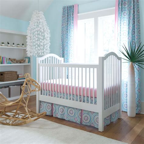 aqua haute baby 2 piece crib bedding set carousel designs