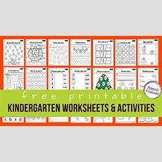 150+ Free Printable Worksheets For Kindergarten Instant Download