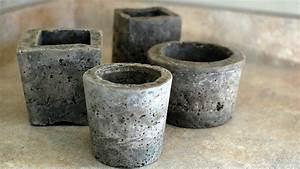 Faire Un Moule Pour Béton : fabriquez des pots de fleurs en b ton ~ Melissatoandfro.com Idées de Décoration