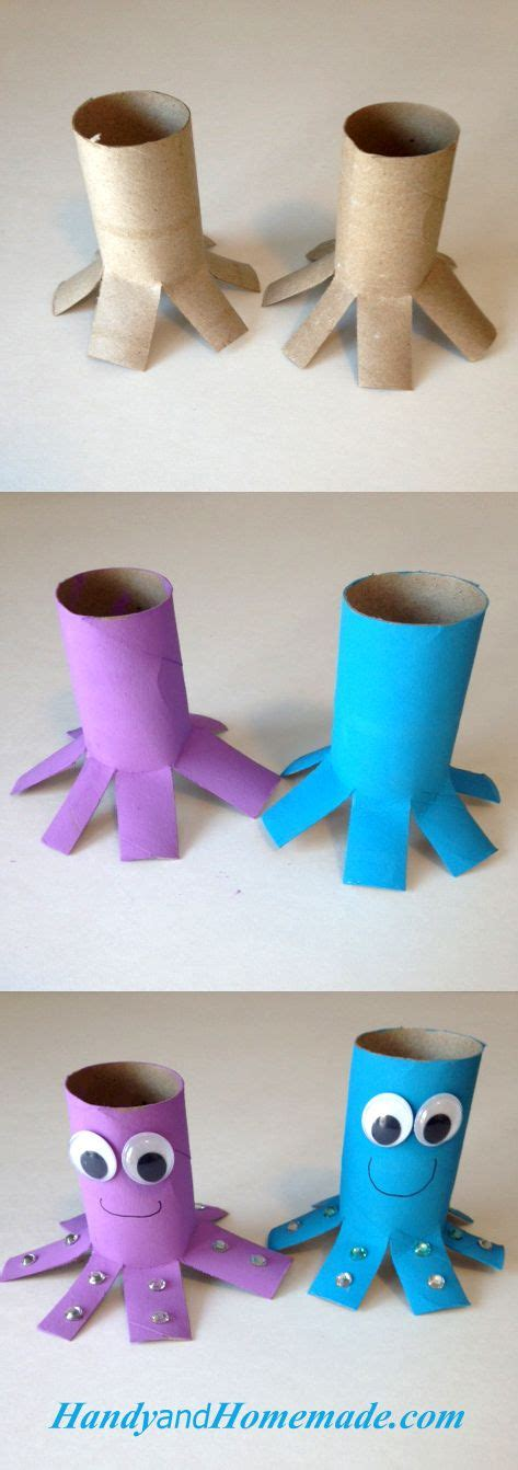 octopus toilet paper roll craft grandkids toilet 677   c79ae78066ad9bb51d502606810619ef