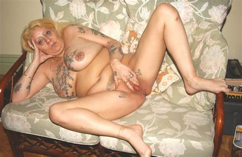 Nasty Granny Slut Spreads Her Legs Eagle To Show Tattooed