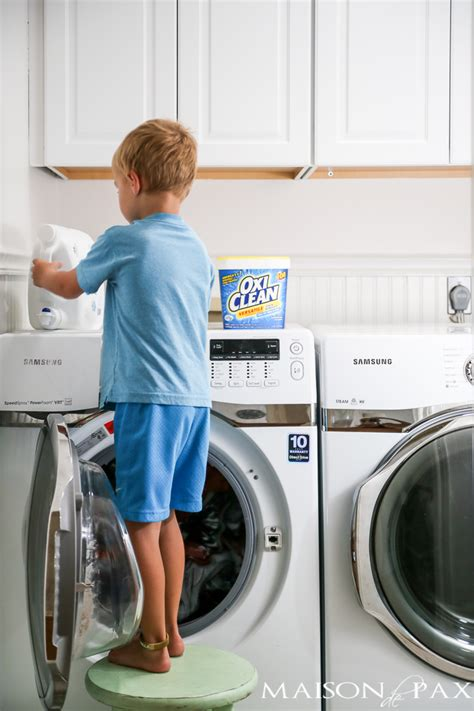 doing laundry by teaching kids to do laundry maison de pax