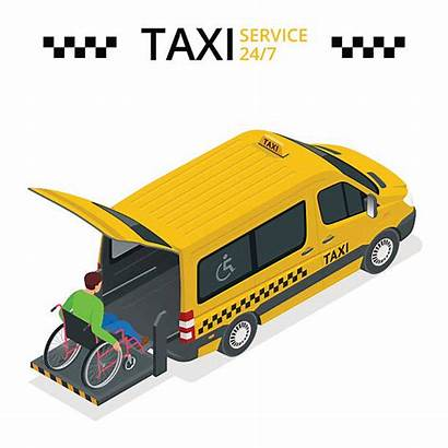 Wheelchair Taxi Physically Lift Disabled Flat Disability