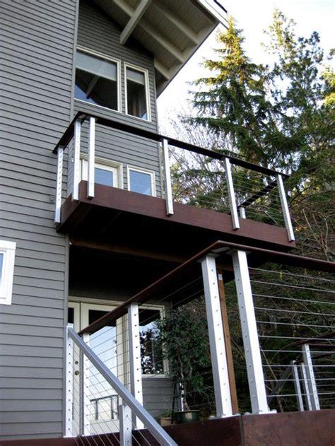 modern deck rail houzz