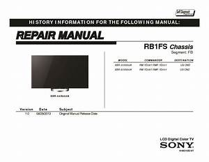Sony Xbr-55x850a  Xbr-65x850a Service Manual