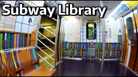 subway library train     youtube