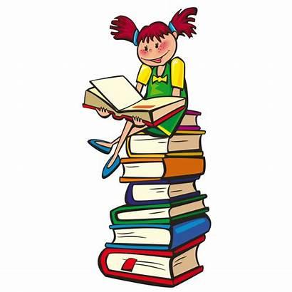 Clipart Cartoon Library Clip Cliparts Reading