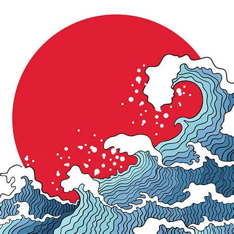 royalty  japan tsunami clip art vector images