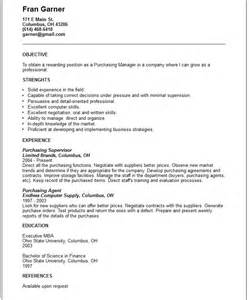 professional resume format for purchase manager purchasing manager resume exle free templates collection