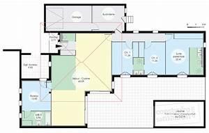 maison de plain pied 6 detail du plan de maison de plain With plans de maison gratuit 6 maison contemporaine avec patio