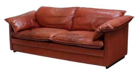 danish modern red leather sofa june mid century design