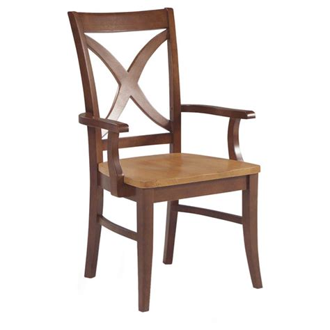 x back dining chair with arms dcg stores