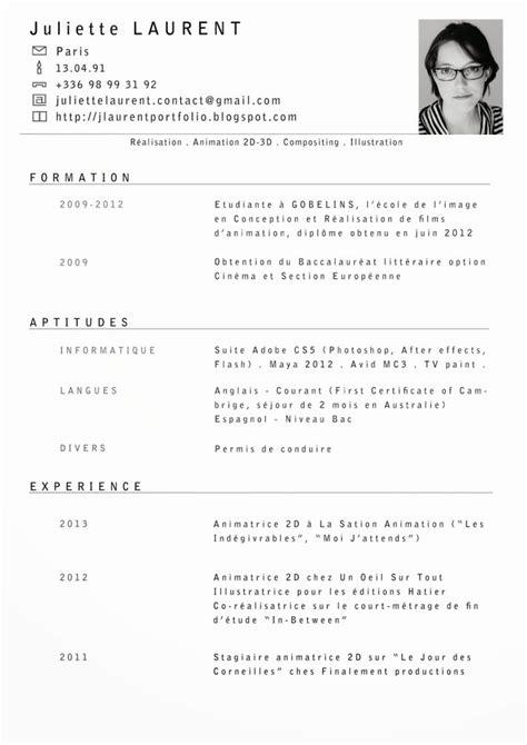 Un Modèle De Cv En Francais by Curriculum Vitae Francais Modelo De Curriculum Vitae