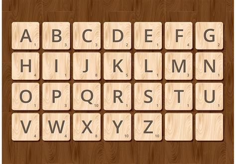 Printable Wooden Scrabble Tiles by Free Scrabble Alphabet Vector Free Vector