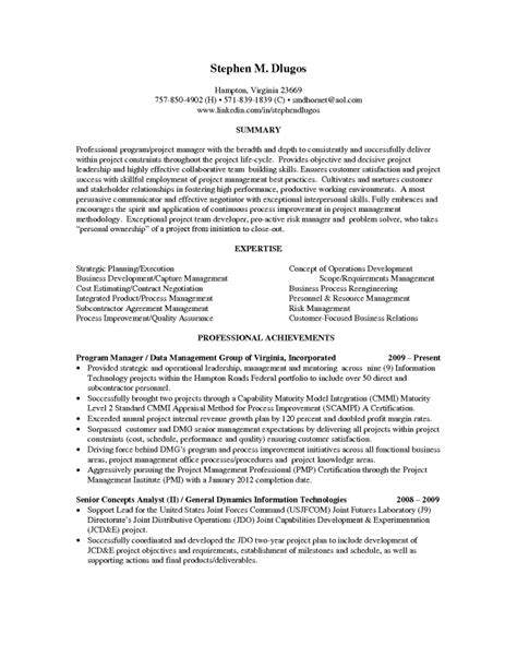 technical project manager resume inspiredshares