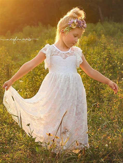 rustic flower girl dresses ideas  pinterest