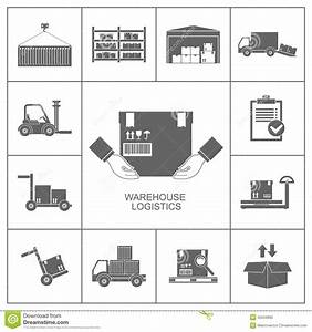 Warehouse Icons Black Stock Vector - Image: 45559895