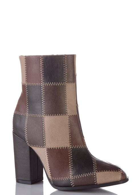 patchwork ankle boots ankle shooties cato fashions