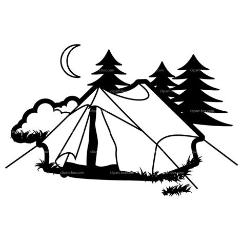Camping Silhouette Clip Art Free