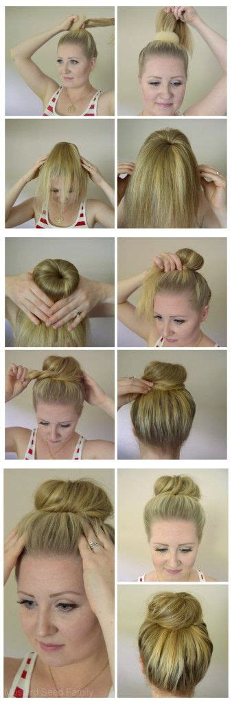 how to use a hair donut hair tutorial mustard seed
