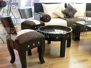 Pouf Pour Salon : pouf salon marocain tabouret salon marocain ~ Premium-room.com Idées de Décoration