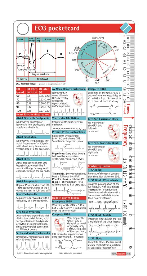 ecg pocketcard boerm bruckmeier publishing llc